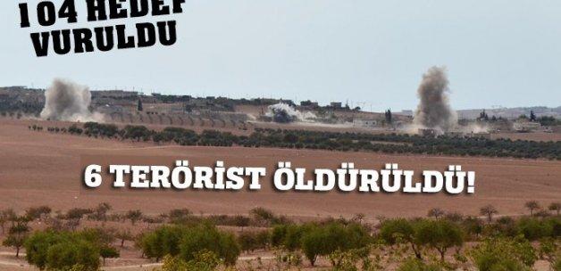 104 DEAŞ hedefi vuruldu! 6 terörist etkisiz hale getirildi...