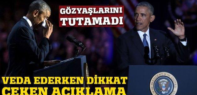 ABD Başkanı Obama veda etti!