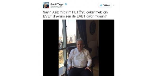 AK Partili Tayyar'dan Aziz Yıldırım'a 'Evet' çağrısı