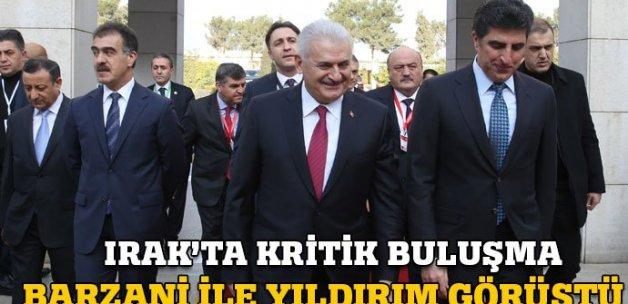 Başbakan Binali Yıldırım Barzani ile görüştü