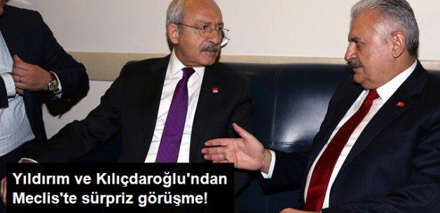 Başbakan Yıldırım ve Kılıçdaroğlu'ndan Meclis'te Sürpriz Görüşme!
