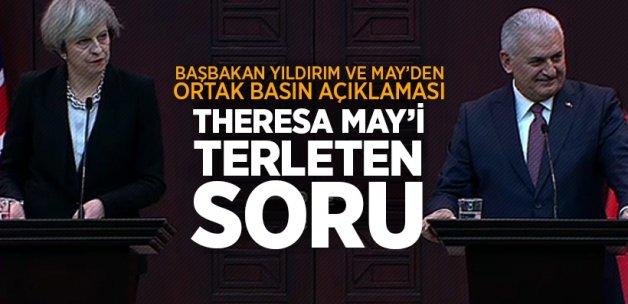 Başbakan Yıldırım ve May'den ortak basın açıklaması