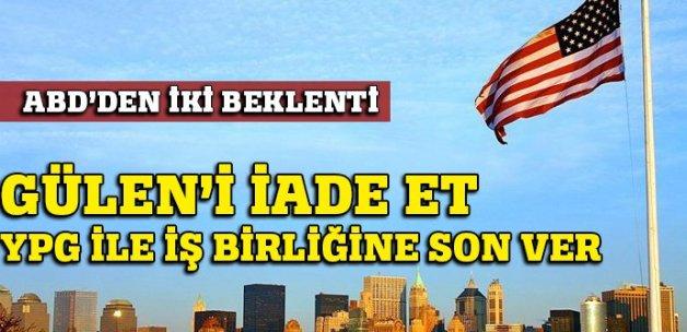 Çavuşoğlu: Gülen'i iade et, YPG ile iş birliğine son ver