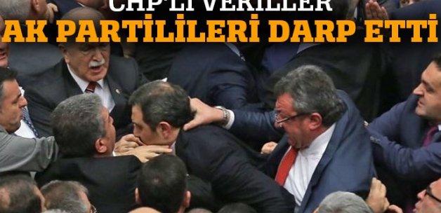 CHP'li vekiller AK Partili vekilleri darp etti