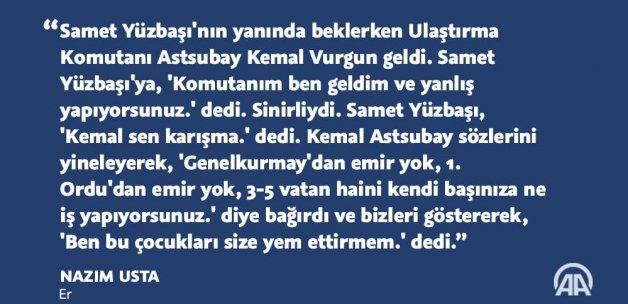 Darbecileri püskürten Astsubay Kemal ve kahraman askerleri