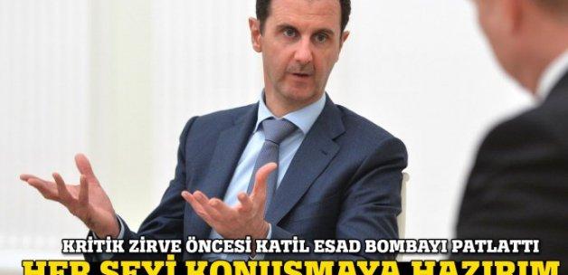 Esad: Astana'da her konuyu müzakere etmeye hazırım