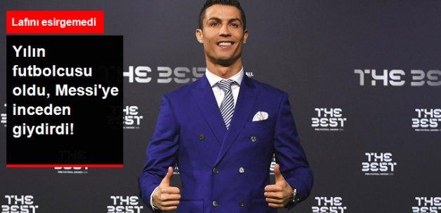 FIFA'da Yılın Futbolcusu Cristiano Ronaldo, Messi'ye Göndermede Bulundu