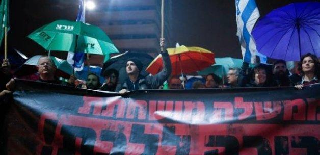İsrail'de Netanyahu protestosu