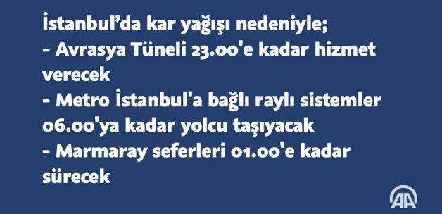 İstanbul'da ulaşıma 'kar' düzenlemesi