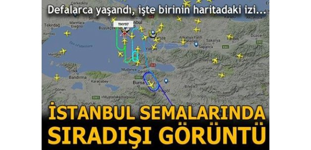 İstanbul semalarında sıradışı görüntü! Yolcu uçakları havada defalarca tur attı...