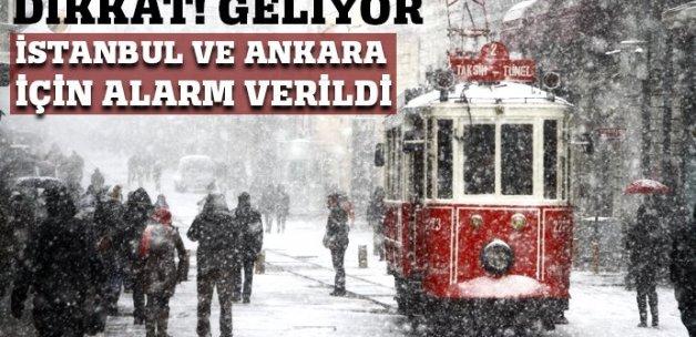 İstanbul ve Ankara'ya kar geliyor