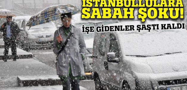 İstanbullulara sabah sabah kar sürprizi
