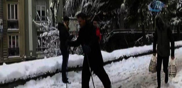 İstanbul'un göbeğinde kayak keyfi