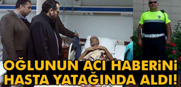 Kahraman polis Seki'nin babası acı haberi hasta yatağında aldı