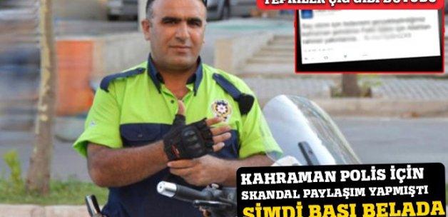 Kahraman polisle ilgili skandal paylaşımda bulunan kliniğe soruşturma
