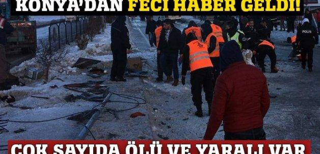 Konya'da öğrencileri taşıyan otobüs devrildi: 3 ölü, 40 yaralı