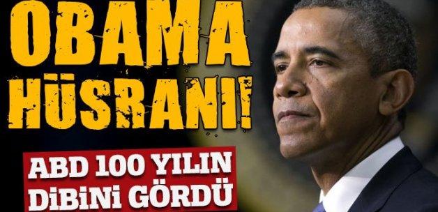 Obama hüsranı! ABD 100 yılın dibinde