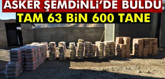 Şemdinli'de 63 bin 600 adet av fişeği ele geçirildi