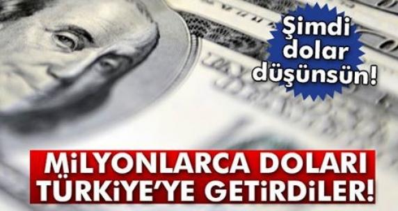 Şimdi dolar düşünsün! Milyonlarca doları Türkiye'ye getirdiler...