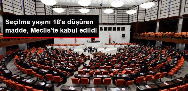 Son Dakika! Anayasa Değişiklik Teklifinin 3. Maddesi Meclis'te Kabul Edildi!