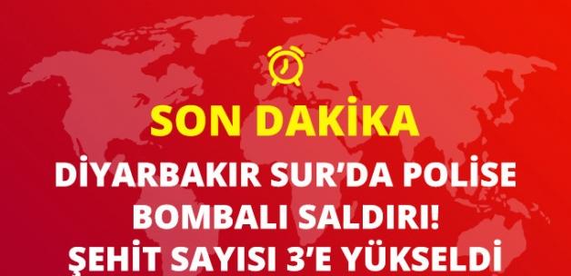 Son Dakika! Sur'da Polisleri Taşıyan Servis Aracına Saldırı: 3 Polis Şehit, 3 Polis Yaralı