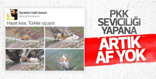 Sosyal medyada terörü öven Baran gözaltına alındı