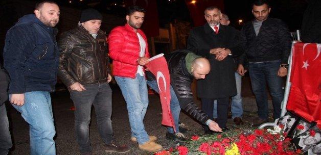 Taksiciler terör saldırısını protesto etti