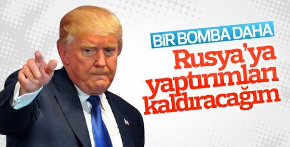 Trump'tan 'Rusya'ya yaptırımları kaldırabiliriz' mesajı