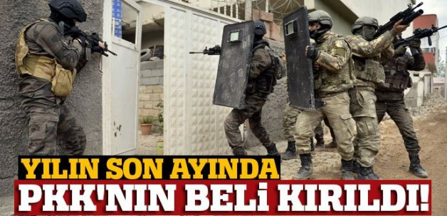 Yılın son ayında PKK'ya ağır darbe: 170 terörist öldürüldü