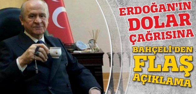 Bahçeli, Erdoğan'ın dolar çağrısını değerlendirdi