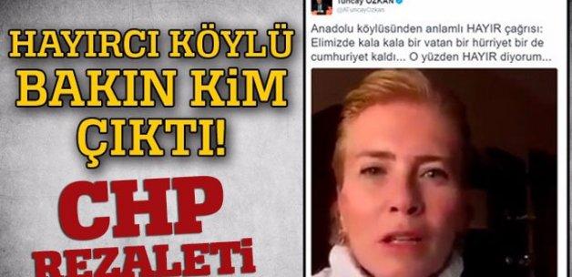 CHP'li vekilin köylü dediği kadın tanıdık çıktı
