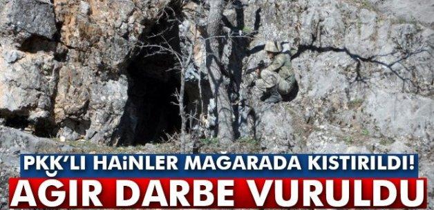 PKK'lı hainler mağrada kıstırıldı! Büyük darbe vuruldu...
