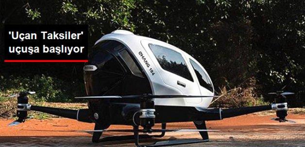 Uçan Taksiler İlk Olarak Dubai'de Kullanılacak