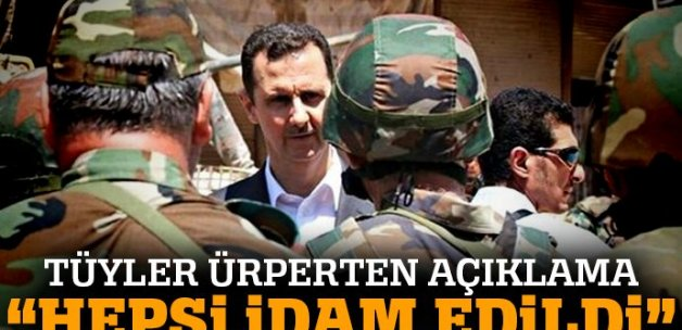 'Bombardımandan kurtulanlar rejim tarafından idam edildi'