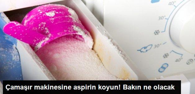 Çamaşır Makinesine Aspirin Koyun! Bakın Ne Olacak