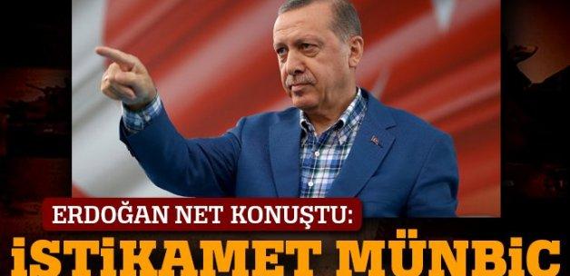 Cumhurbaşkanı Erdoğan: El Bab'dan sonra istikamet Münbiç