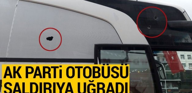 Diyarbakır'da AK Parti otobüsüne taşlı saldırı düzenlendi