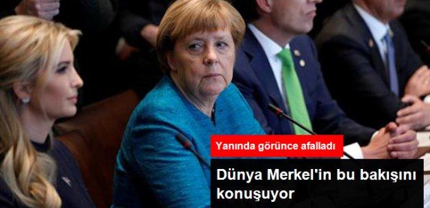 Dünya Merkel'in Ivanka Trump'a Bakışlarını Konuşuyor