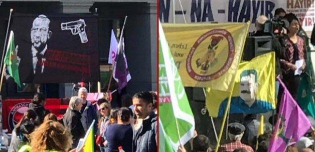 İsviçre'de skandal gösteri! Meclis önünde 'Erdoğan'ı öldür' pankartı ile Cumhurbaşkanı hedef gösterildi