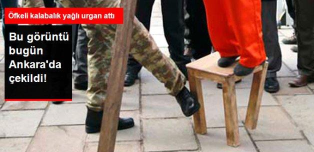 Ömer Halisdemir Davasında Protesto! Temsili İdam Sehpası Kurdular, Yağlı Urgan Attılar