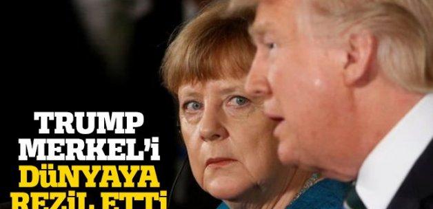Trump Merkel'i dünyaya rezil etti