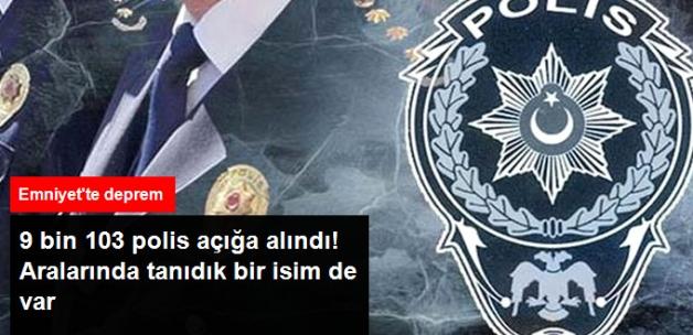 9 Bin 103 Polis Açığa Alındı, Aralarında Motosiklet Sürücüsünü Vuran Müdür Yardımcısı da Var