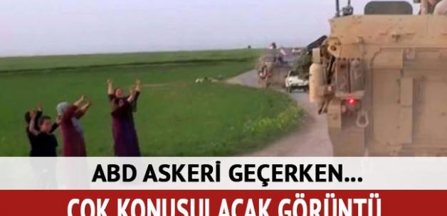 ABD askerleri YPG teröristlerinin yanında nöbet tutuyor