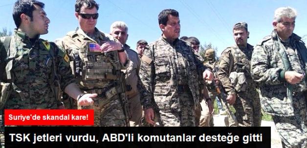 ABD'li Komutanlar TSK'nın Vurduğu YPG Mevzilerinde İnceleme Yaptı