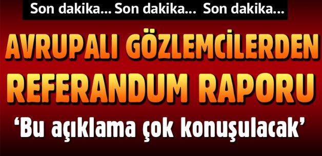 AGİT'ten referandum açıklaması