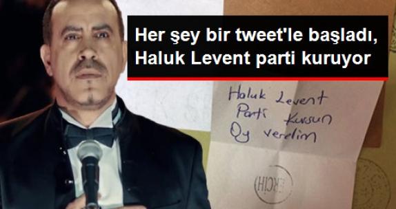 Bir Tweet'le Başlayan Şaka Gerçeğe Döndü, Haluk Levent Parti Kuruyor