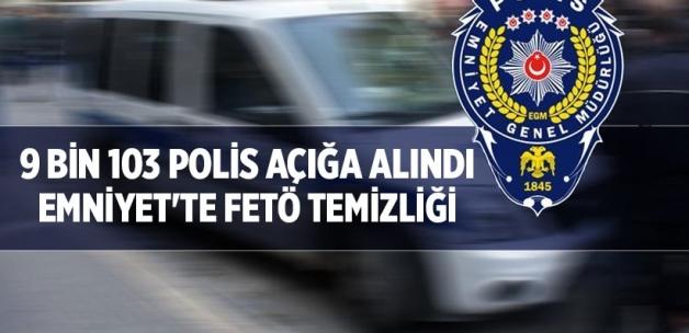 Emniyet'te 9 bin 103 polis açığa alındı