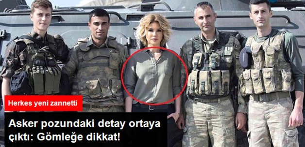 Gülben Ergen'in Asker Ziyareti Fotoğrafında Dikkat Çeken Detay