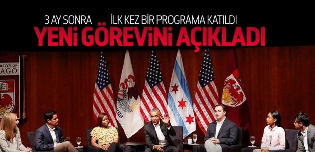 Obama, 3 ay sonra ilk kez bir programa katıldı