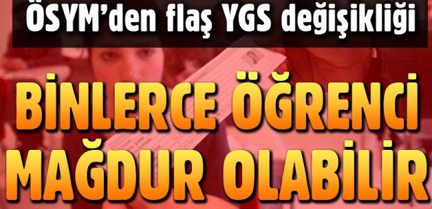ÖSYM'nin flaş YGS kararı öğrencileri mağdur edebilir!